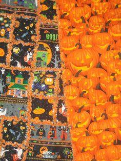 Halloween Glitter Rag Quilt