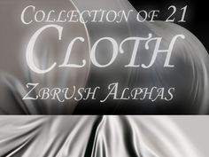 21 Cloth Zbrush Alphas by ~bongistka on deviantART