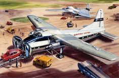 Bristol Superfreighter - Airfix box art by Roy Cross Vintage Year, Vintage Box, Airfix Models, Airfix Kits, Lowest Airfare, Cross Art, Flying Boat, Cross Paintings, Aviation Art