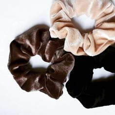 Beautiful Soft Lux Scrunchies | Black Velvet, Champagne Velvet Scrunchie, Toffee Velvet Scrunchie  Our Premium scrunchies are much kinder than regular elastics = less snags and breakage. Super comfortable to wear!  ♥OEKO-TEX Certified elastic that we use sets us apart from others. ♥Soft & stretchy and extremely gentle to your hair and skin. ♥Super comfortable to wear. ♥Perfect for working out, and everyday use. ♥Great for all hair types, ages and they make great gifts!