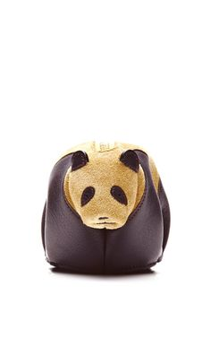 Shop Leather and Suede Panda Coin Purse by Loewe Now Available on Moda Operandi