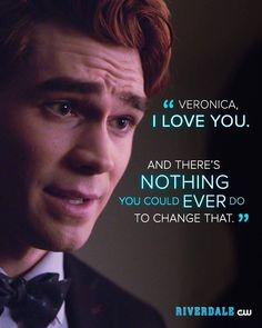 Do you want another reason why VARCHIE is the best couple? I think this sentence already tells how wonderful they are together Riverdale Cw, Riverdale Archie, Riverdale Memes, I Love Him, Love You, Archie Andrews, Me Tv, Best Couple, Best Shows Ever