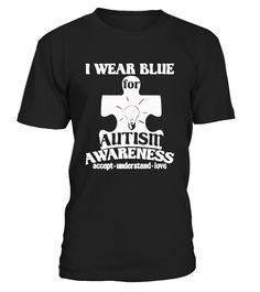 i wear blue autism awareness love mom  #cancer #awareness