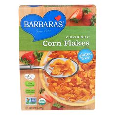 Barbara's Bakery Corn Flakes - Fruit Juice Sweetened - Case Of 6 - 9 Oz.  #inspiredbeacon #love #organic  #Kosher #Cereal #95%+Organic