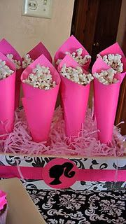Snack idea could watch a barbie movie and play barbies too and a spa?????