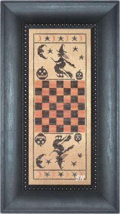 Hallo game board.  The Primitive Needle- Lisa Roswell