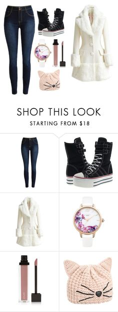 """""""Untitled #423"""" by the-joker-reject on Polyvore featuring WithChic, Lipsy, Jouer and Karl Lagerfeld"""