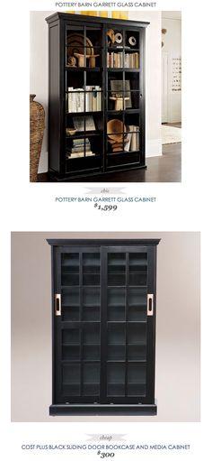 COPY CAT CHIC FIND | POTTERY BARN GARRETT GLASS CABINET