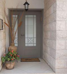 Entrance Design, Door Design, House Design, Front Door Entrance, House Entrance, Apartment Renovation, Railing Design, Facade, Interior Design