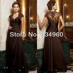 plus size long evening gowns mother bride dresses dress a line cape sleeve floor length lace sequin sweetheart $115.00
