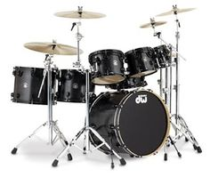 DW Collector Series Drums (Black Lacquer)...