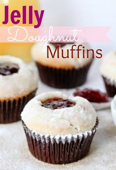 Jelly Doughnut Muffins | confessionsofacookbookqueen.com #muffins #doughnuts #jelly