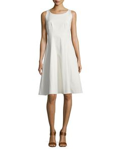 Angelee+Sleeveless+Fit+&+Flare+Dress++by+Lafayette+148+New+York+at+Neiman+Marcus.