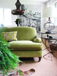 Decorating with green sofas (for Sloan)