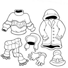 Winter Clothes Coloring Pages For Children