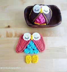 Crochet Owl Ornament KeychainToy Pattern DIY by MonikaDesign, $4.00