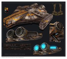 Star Wars the Old Republic concept art- SWTOR Corellian xs stock light freighter scoundrel falcon