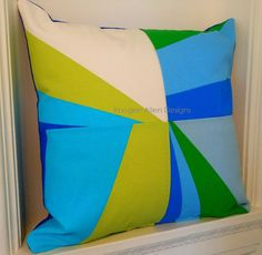Bold bright. modern cushion design featuring by ImogenAllenDesigns