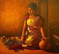 oil painting - oil on canvas - artist ilayaraja - indian women - tamil women Classic Paintings, Indian Artist, Painting, Woman Painting, Beautiful Paintings, Realistic Art, Indian Painting, Painting Blog, Realistic Paintings
