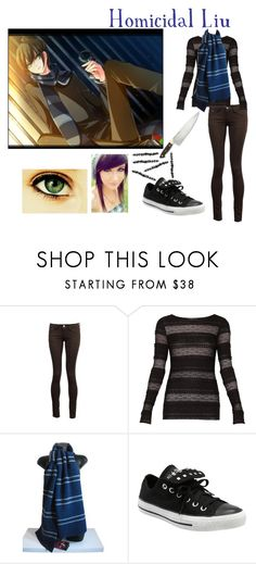 """""""Homicidal Liu"""" by xxbeauty4rmpainxx ❤ liked on Polyvore featuring AX Paris, BCBGMAXAZRIA and Converse"""