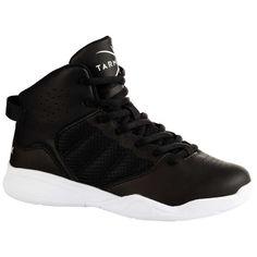 Ghete Baschet SS100 Negru Copii TARMAK - Decathlon.ro Girls Basketball Shoes, Basketball Players, Baskets, Basket Ball, High Top Sneakers, Nike, Men, Absorber, Factors