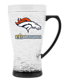 This Denver Broncos Super Bowl Champions Crystal Flared Mug Set is perfect! #zulilyfinds