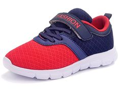 8f92d6cdb6244 DADAWEN Boy's Girl's Casual Strap Breathable Light Weight Sneakers Play Running  Shoes