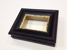 Wooden Black/Gold Frame For ACEO Artist Trading Card by AceoFrames, $11.99