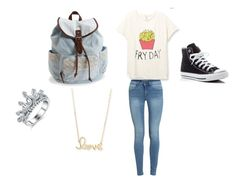 """""""School Outfit#3"""" by katherinenickerson on Polyvore featuring Converse, Aéropostale and Sydney Evan"""