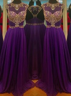 Dramatic Prom Dress -A-Line Scoop Cap Sleeves with Rhinstone