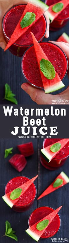 Healthy beet and watermelon juice for boosting your immune system. Beetroot is low in fat, full of powerful antioxidants, rich in Vitamin C and helps in the absorption of iron. Beet juice boost stamina to help you exercise longer, improve blood flow, and