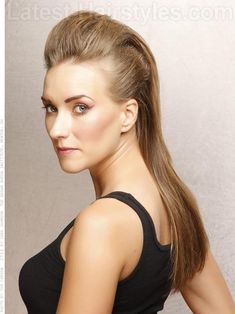 Long Straight Pompadour HairstyleContact me to get wholesale price email: apohair.jane@gmail.com skype: apohair.jane whatsapp: + 84 1656123369