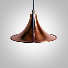 Brushed copper cone lamp, hanging, pendant