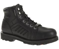Harley-Davidson footwear men's performance Zachary five-inch motorcycle boots with ShockAbsorbers Twin Pad Comfort Technology