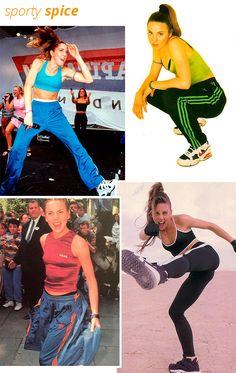 sporty spice - mel c - anos 90 - estilo - spice girls Sporty Spice Costume, Ginger Spice Costume, Baby Spice Costume, Spice Girls Outfits, Outfits 90s, Girl Outfits, Diy Halloween Costumes For Girls, Girl Costumes, Emma Bunton