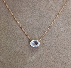 "18k rose cut oval-shaped diamond pendant. 20"" rose gold chain. .82cts diamond"