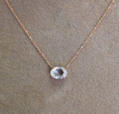 SINGLE DIAMOND OVAL PENDANT