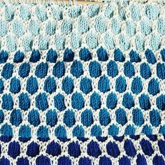 Special knitting stitch <3  two color honeycomb stitch