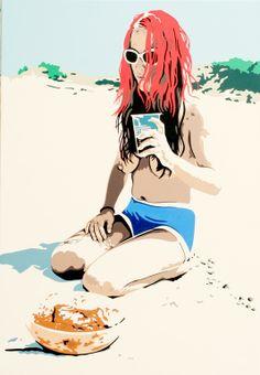 "Saatchi Online Artist: georg dienz; Acrylic, 2011, Painting ""oderberg"""
