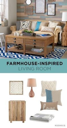 Whether you live in a small apartment or on a 100-acre farm, you can try out cozy farmhouse-inspired home decor. We love the earthy tones and relaxing atmosphere this style lends to any room. Opt for natural colors and fabrics, like these throw pillows and striped blanket. And add something that feels like it could have been salvaged from an antique barn, like this rustic end table. Give your home a fresh new look with Kohl's.