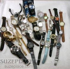 Large Lot of Watches Mens Womens Fossil Jules Jurgensen Citizen Timex 29 Total SuzePlace.com