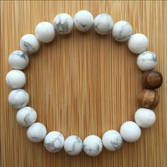 Howlite Mala Beads!! Howlite is a calming stone, perfect for facilitating personal and spiritual awareness and attunement. Howlite can be used to attune to healing energy.