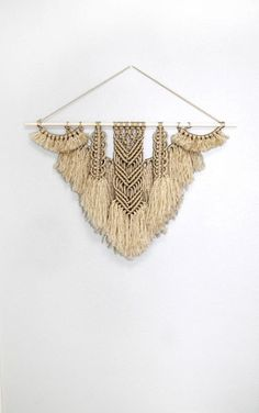 My very Favorite Macrame Finds from Etsy! Including wall hangings, plant hangers, wall weaving, yarn wall decor and so much more! Delineate Your Dwelling Macrame Curtain, Macrame Cord, Macrame Knots, Modern Macrame, Deco Boheme, Macrame Design, Macrame Projects, Macrame Tutorial, Macrame Patterns