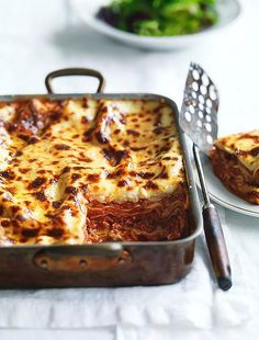 Neil Perry's buffalo mozzarella lasagne - so delicious. One of the best Lasagne recipes ever. Can substitute normal mozzarella and ricotta for some of the buffalo Mozzarella - it gets pricey Lasagne Dish, Lasagne Recipes, Pasta Recipes, Cooking Recipes, Savoury Recipes, Cooking Time, Yummy Recipes, Pasta Meals, Noodle Recipes