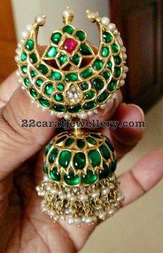Top 7 Kundan and Antique jhumkas Silver Jewellery Indian, Indian Jewellery Design, Temple Jewellery, India Jewelry, Jewelry Design, Ear Jewelry, Kids Jewelry, Wedding Jewelry, Gold Jewelry