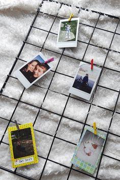 Foto Gitter zum Muttertag mit Instax Sofortbildern Pictures, Diy Crafts, Handarbeit