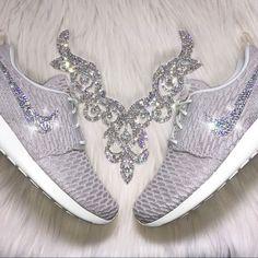 Spotted while shopping on Poshmark: Swarovski Nike Roshe Flyknit Shoes in Tan & Cream! #poshmark #fashion #shopping #style #Nike #Shoes
