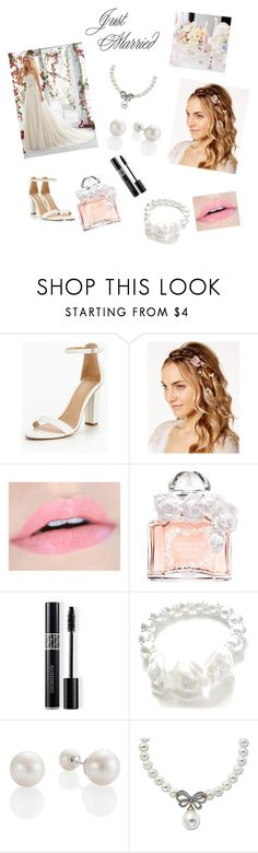 """""""Just Married"""" by sugarplum-cherry ❤ liked on Polyvore featuring Josette, Mori Lee, Guerlain, Christian Dior and Lord & Taylor"""