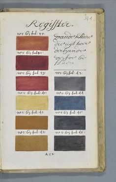 Dutch Book From Documents Every Color Under The Sun A Pre - This 800 page book listed every colour imaginable 271 years before pantone