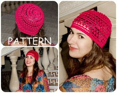 36d6551be9c Bobble Crochet Hat Pattern - Summer Beanies Graph Instant Downloads Crochet  Hat Pattern - DIY Hat. Etsy